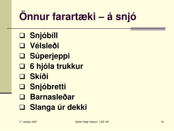 Önnur farartæki – á snjó