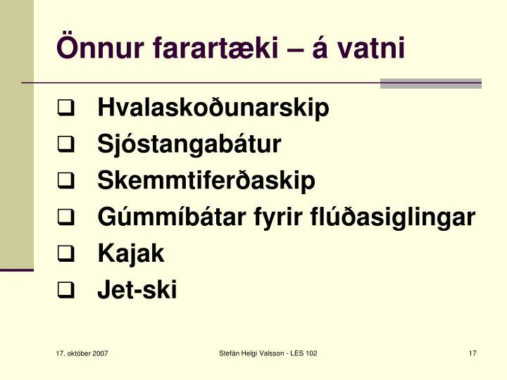Önnur farartæki – á vatni