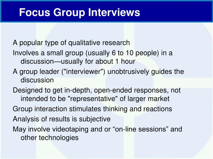 A popular type of qualitative research