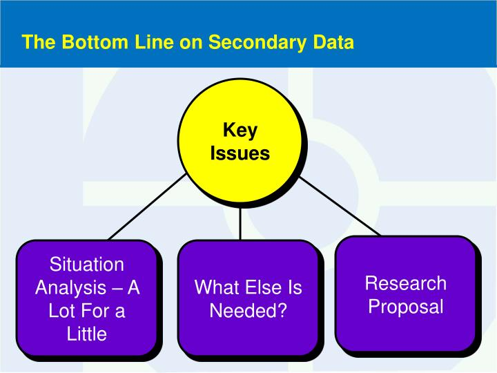 The Bottom Line on Secondary Data