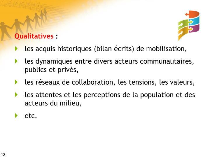 Qualitatives