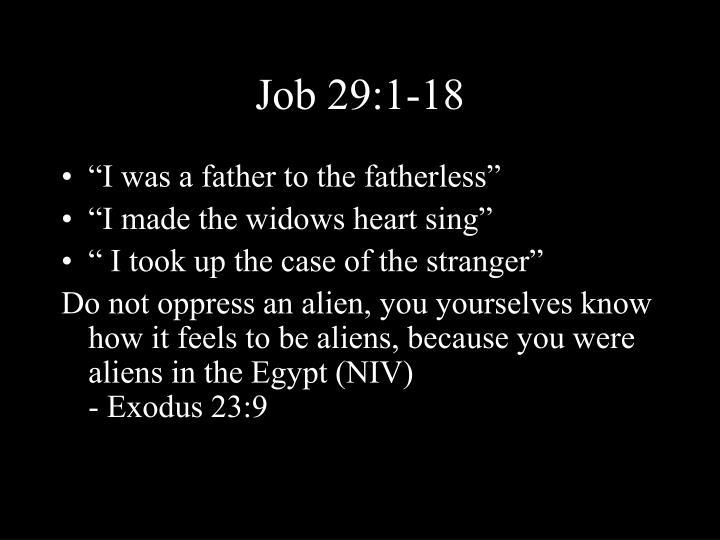 Job 29:1-18