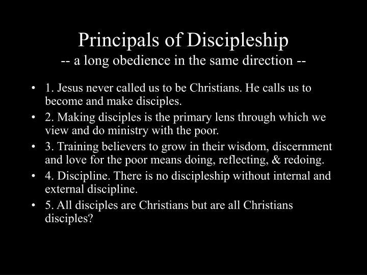 Principals of Discipleship