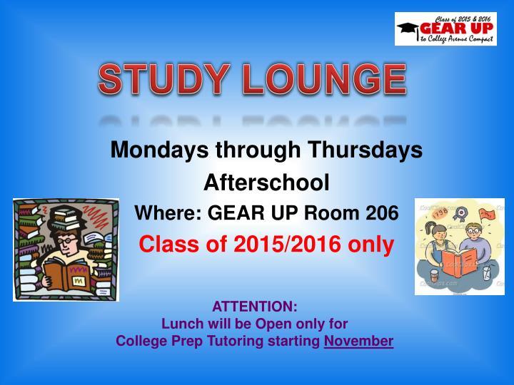 STUDY LOUNGE