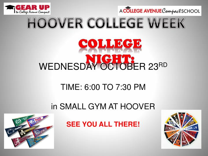 HOOVER COLLEGE WEEK