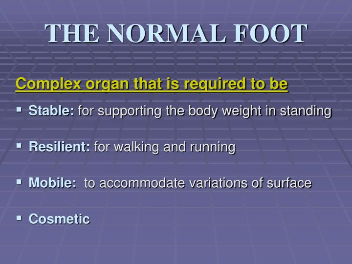 THE NORMAL FOOT