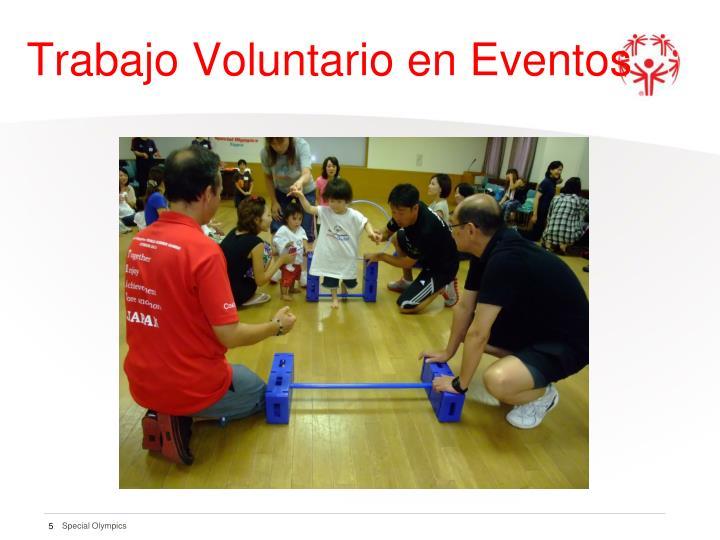 Trabajo Voluntario en Eventos