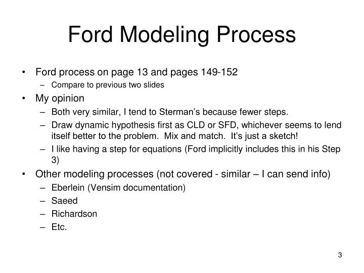 Ford Modeling Process
