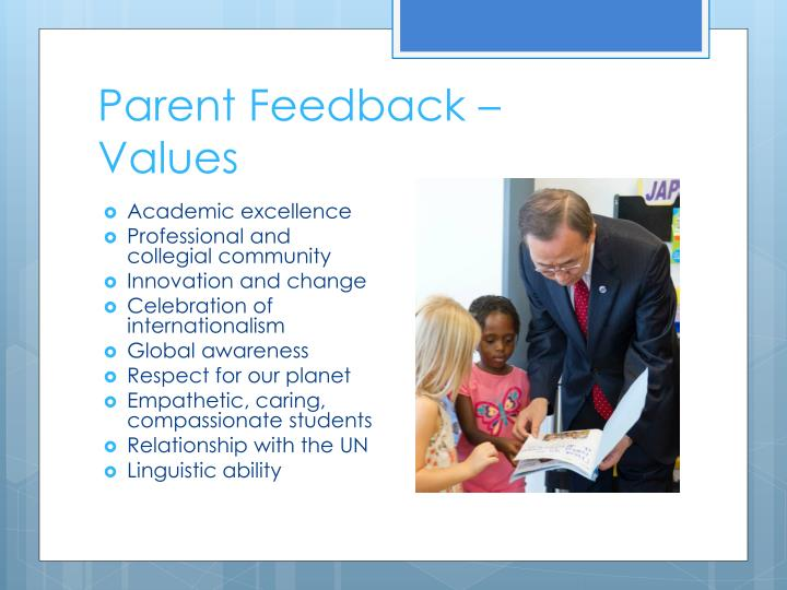 Parent Feedback –