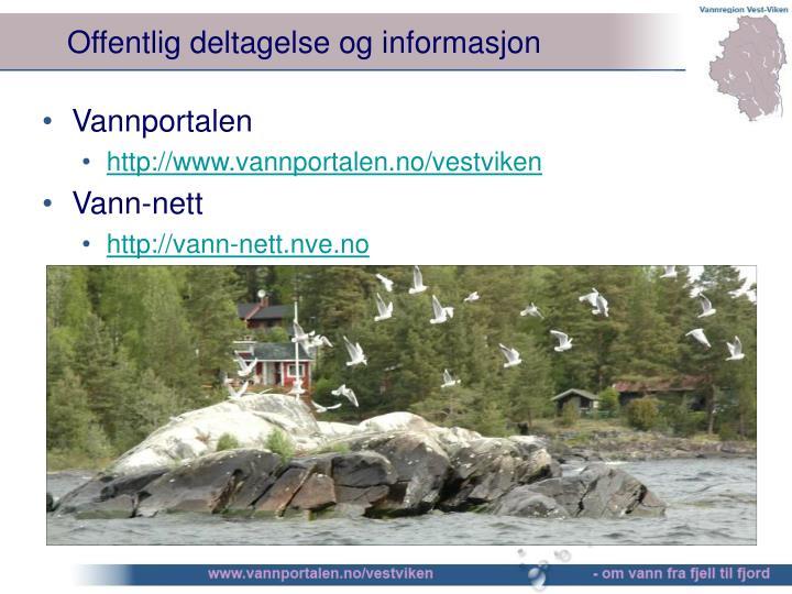 Offentlig deltagelse og informasjon