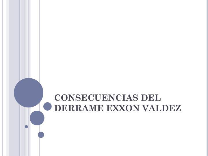 CONSECUENCIAS DEL DERRAME EXXON VALDEZ