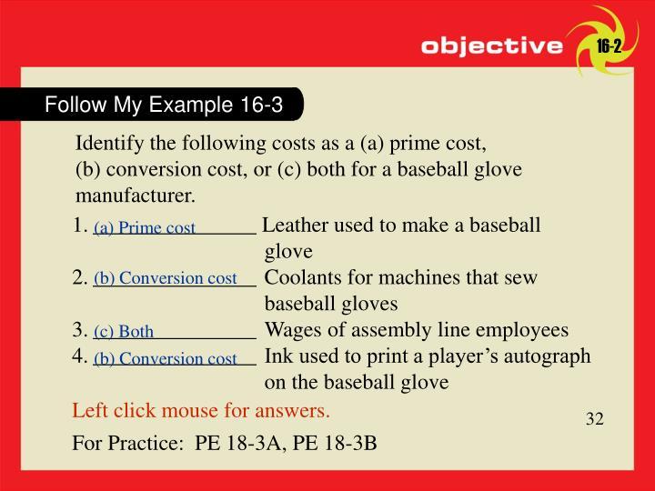 Follow My Example 16-3