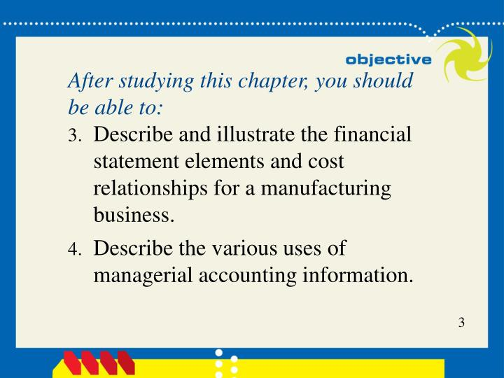Managerial accounting concepts and principles