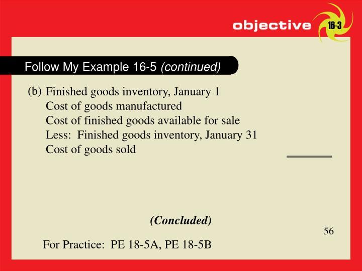 Follow My Example 16-5