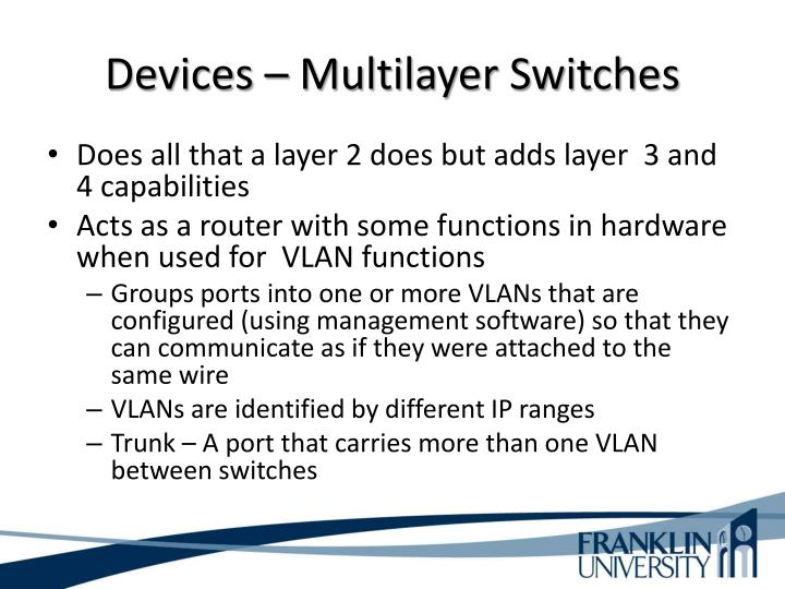 Devices – Multilayer Switches