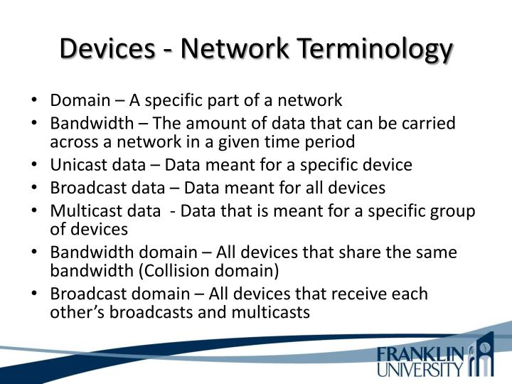 Devices - Network Terminology