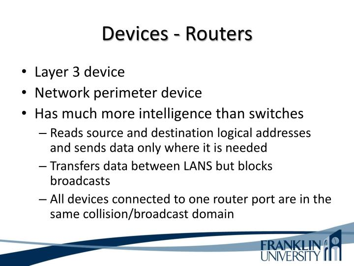 Devices - Routers
