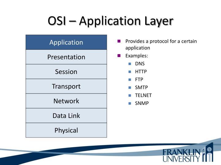 OSI – Application Layer