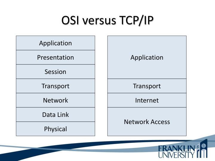 OSI versus TCP/IP