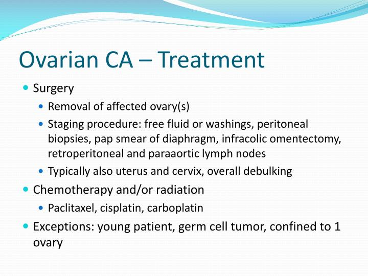 Ovarian CA – Treatment