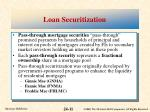 loan securitization
