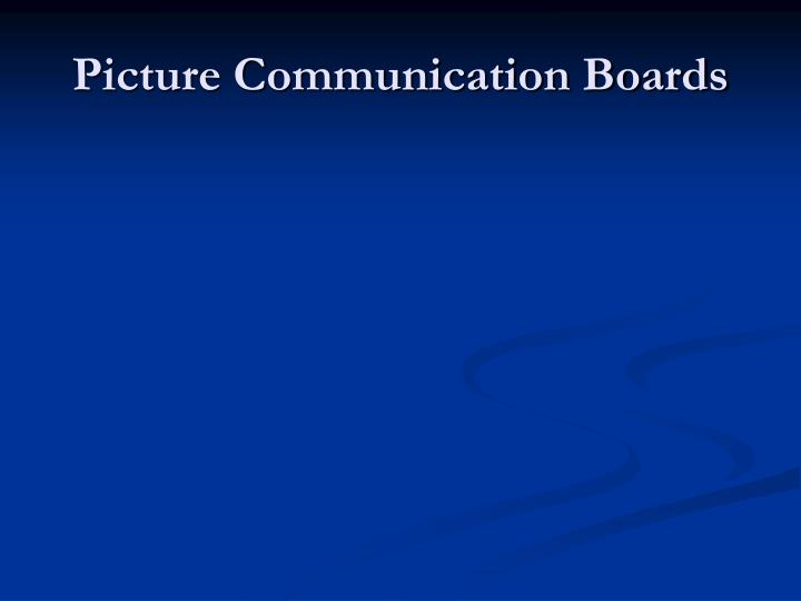 Picture Communication Boards