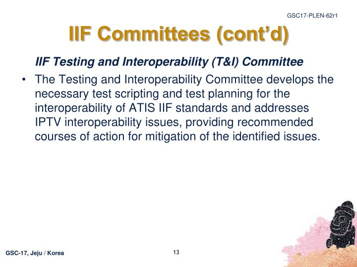 IIF Committees (cont'd)