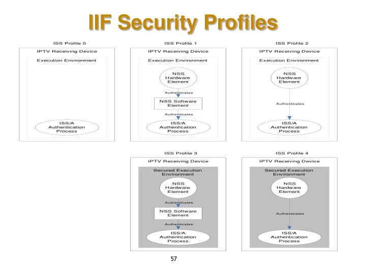 IIF Security Profiles