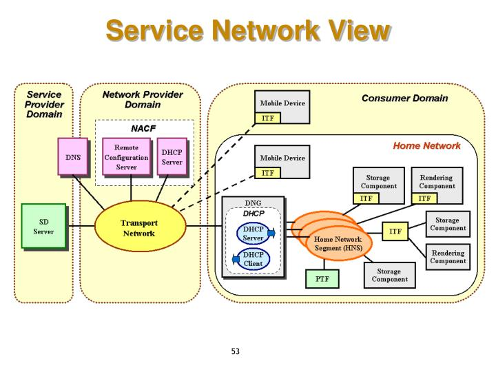 Service Network View