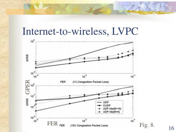 Internet-to-wireless, LVPC