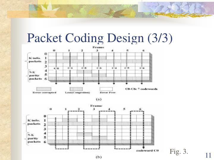 Packet Coding Design (3/3)