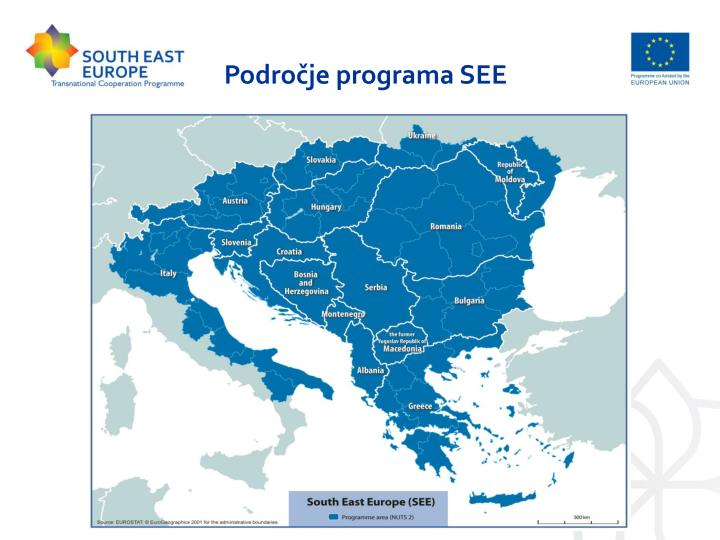 Področje programa SEE