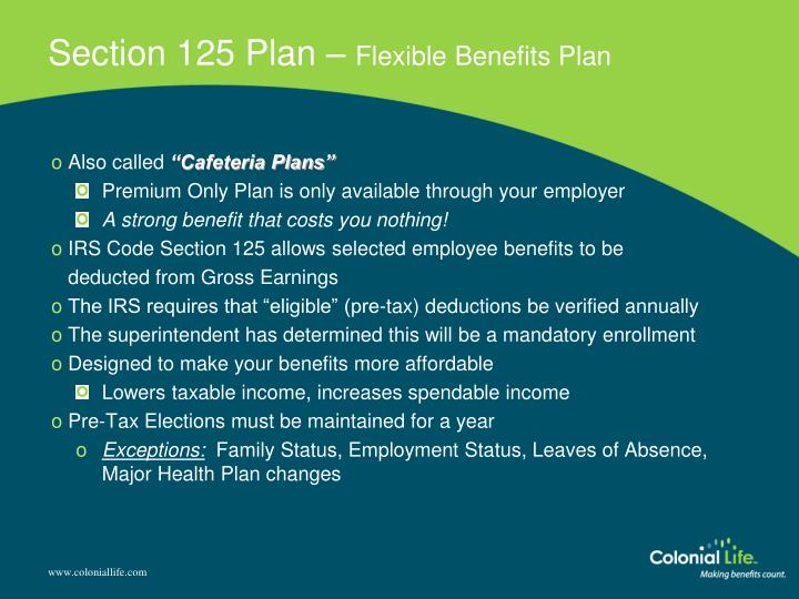Section 125 Plan –