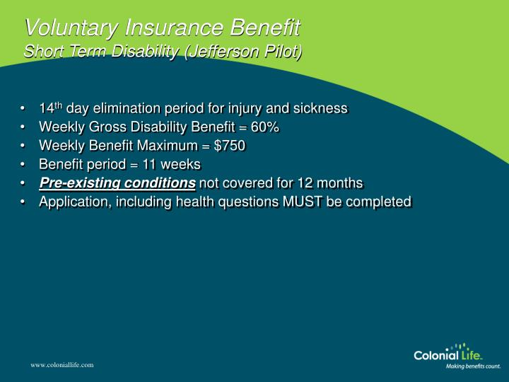 Voluntary Insurance Benefit