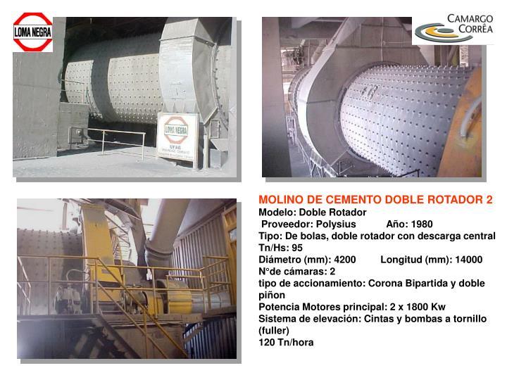 MOLINO DE CEMENTO DOBLE ROTADOR 2