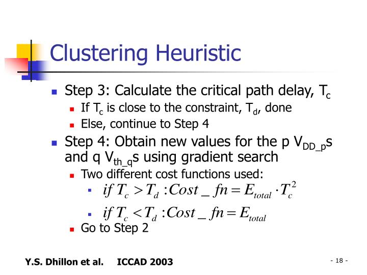 Clustering Heuristic
