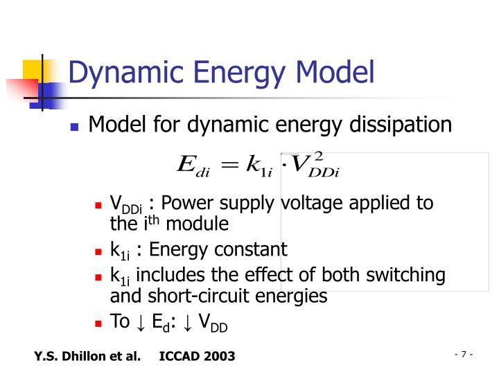 Dynamic Energy Model