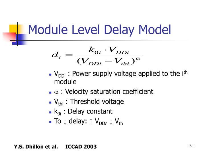 Module Level Delay Model