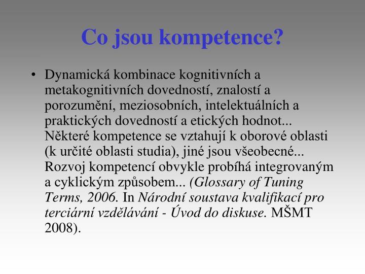 Co jsou kompetence?