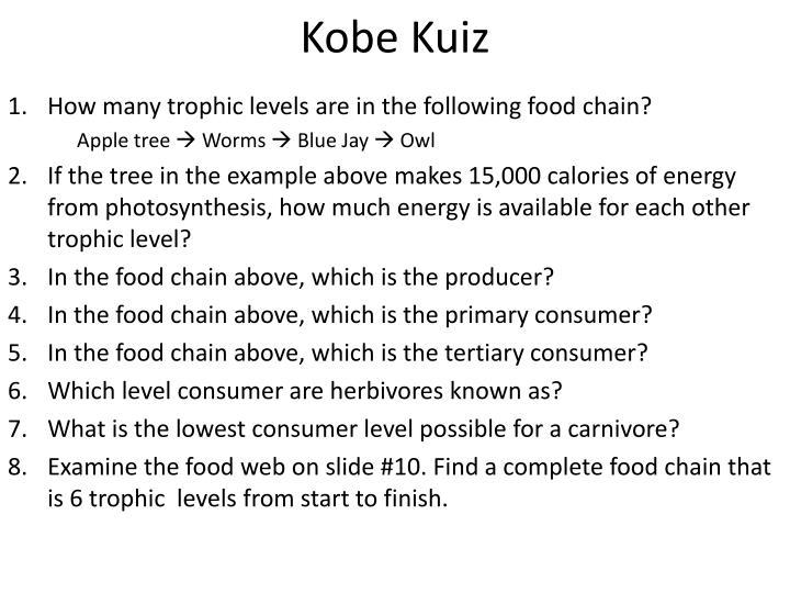 Kobe Kuiz