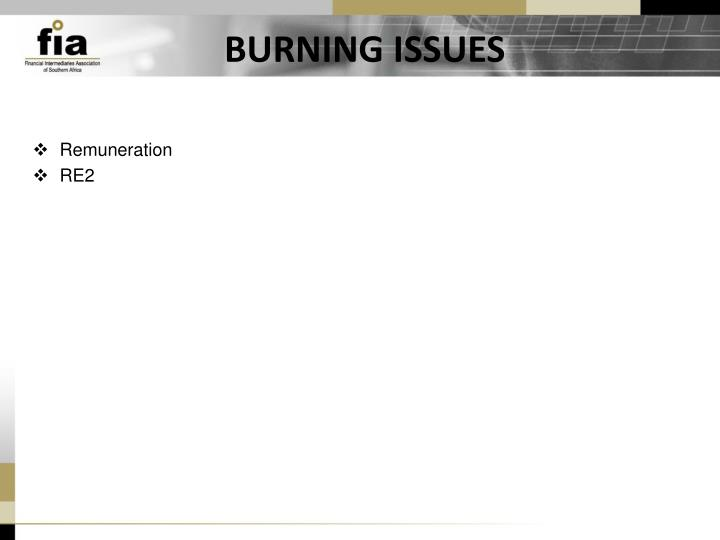BURNING ISSUES