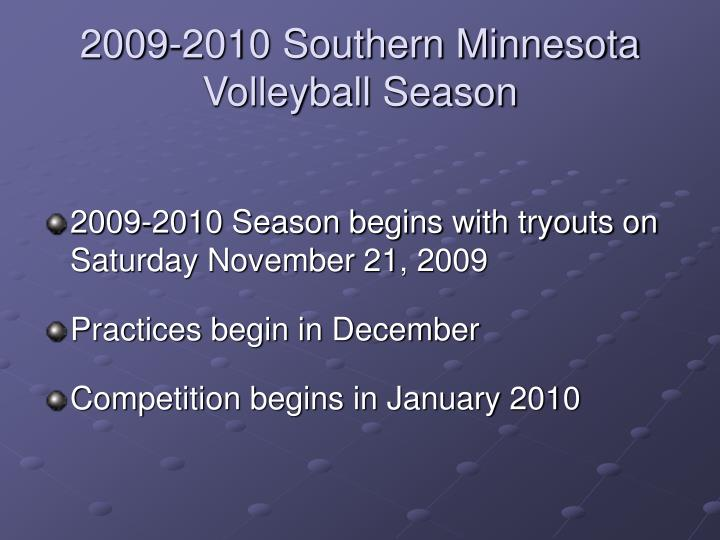 2009 2010 southern minnesota volleyball season