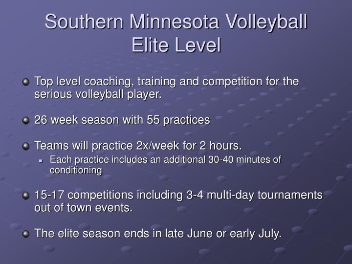Southern Minnesota Volleyball  Elite Level