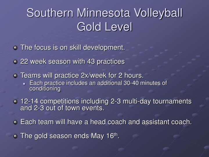 Southern Minnesota Volleyball Gold Level