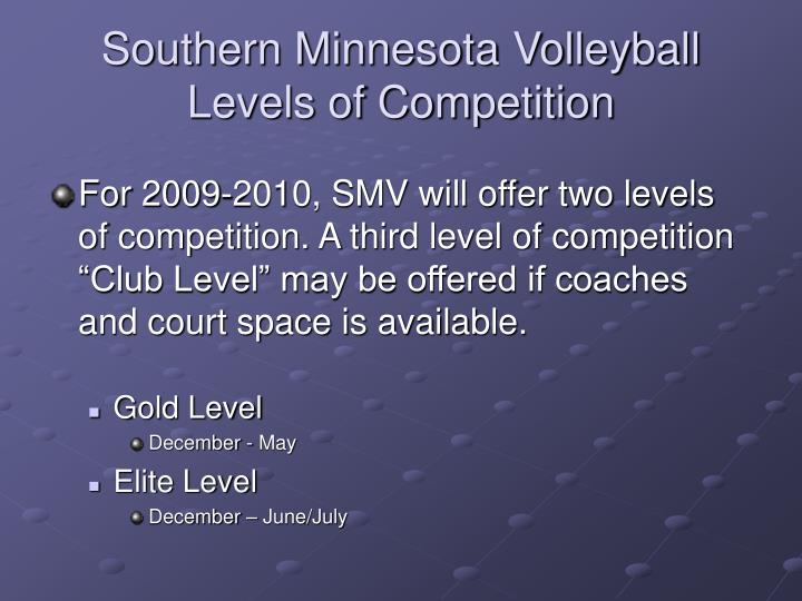 Southern Minnesota Volleyball Levels of Competition