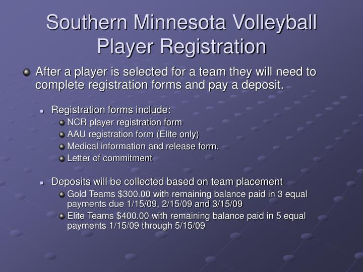 Southern Minnesota Volleyball  Player Registration