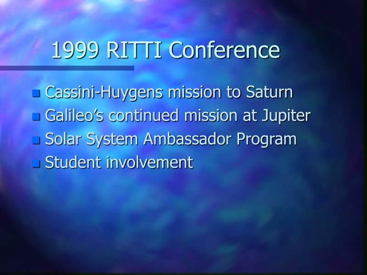 1999 RITTI Conference