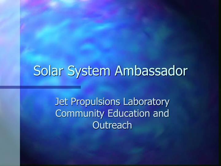 Solar System Ambassador
