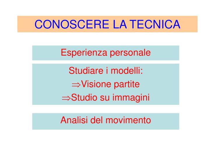 CONOSCERE LA TECNICA