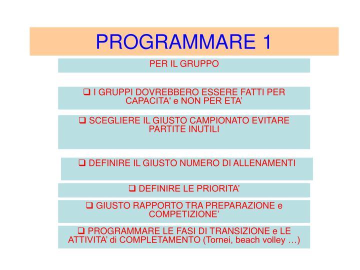 PROGRAMMARE 1